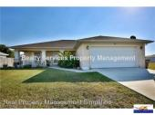 3 bed 2 bath with home available for Annual Rental in Cape Coral!